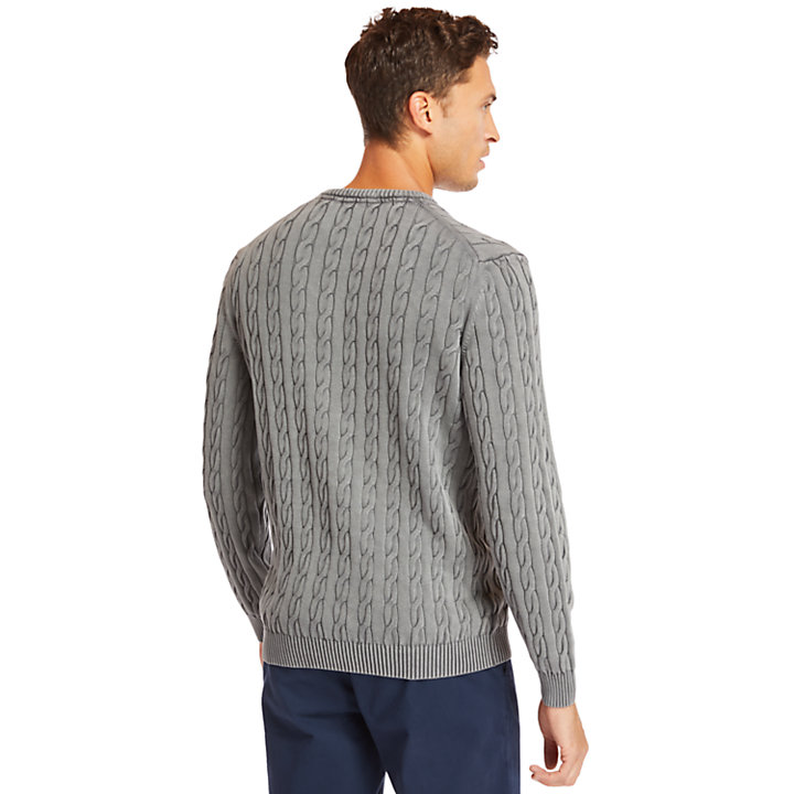 Manhan River Cable Sweater for Men in Grey-
