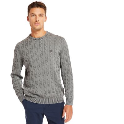 Manhan+River+Cable+Sweater+for+Men+in+Grey