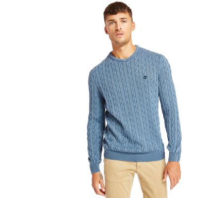 Manhan+River+Cable+Sweater+for+Men+in+Blue