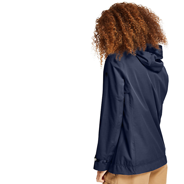 Short Trench Coat for Women in Navy-