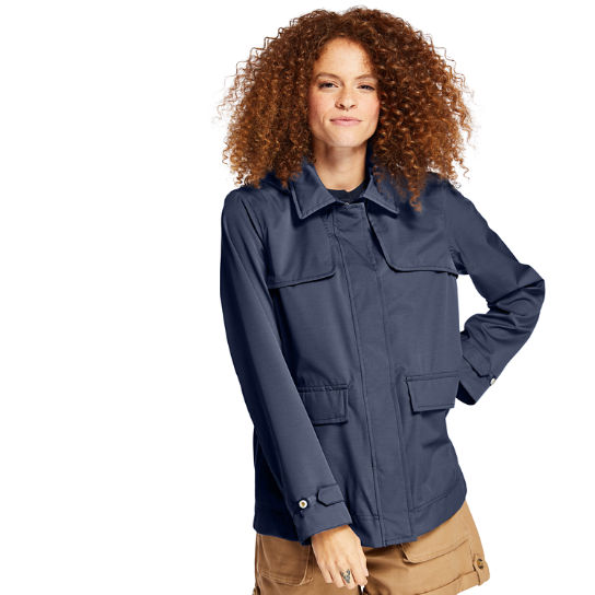 Short Trenchcoat voor Dames in marineblauw | Timberland