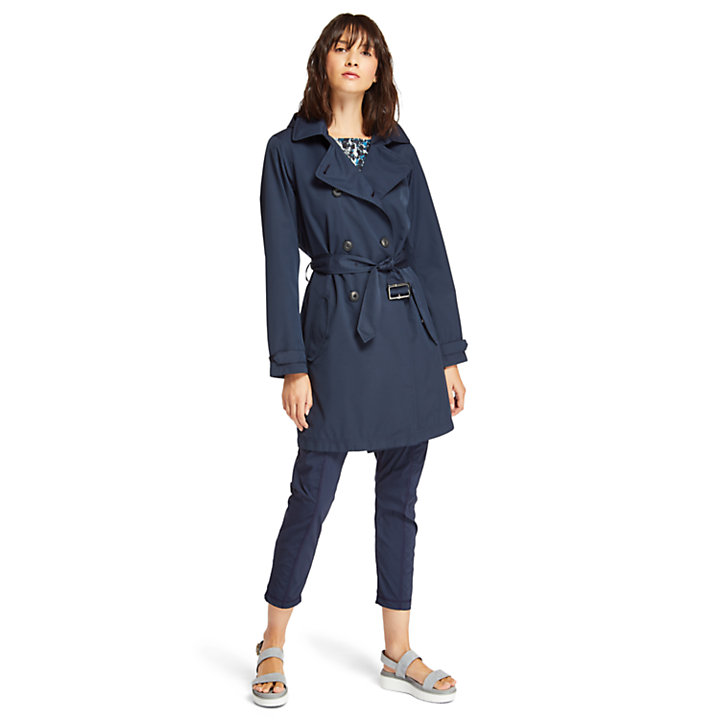 Classic Trench Coat for Women in Navy-