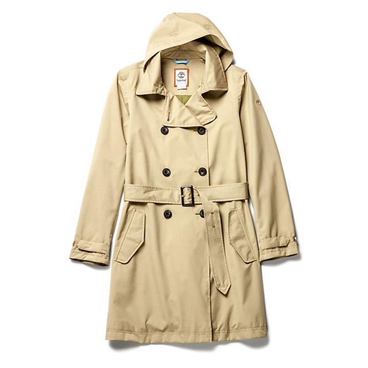 Trench-coat classique pour femme en beige-