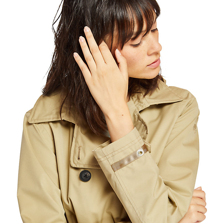 Classic Trench Coat for Women in Beige-