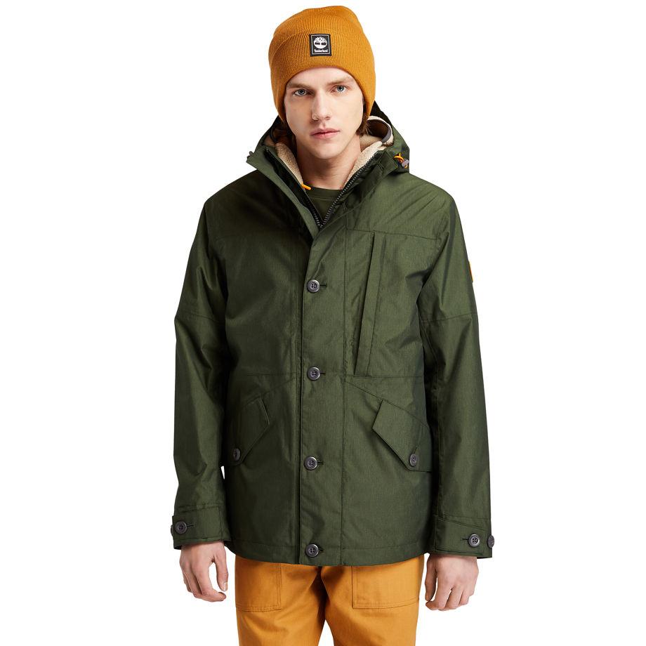 Timberland Ecoriginal 3-in-1 Ek+ Jacket For Men In Dark Green Dark Green, Size S
