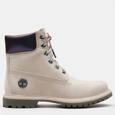 6+Inch+Iridescent+Premium+Boot+for+Women+in+Beige