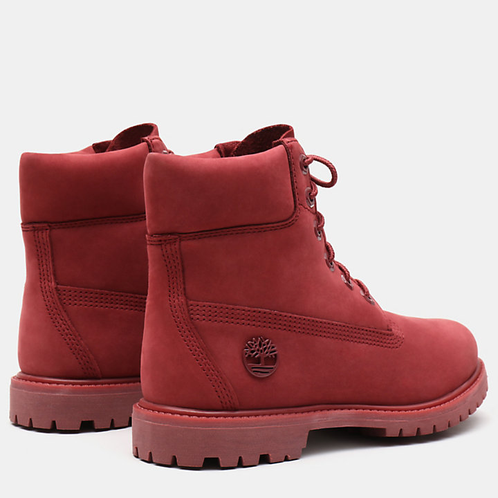 6 Inch Premium Boot for Women in Red-