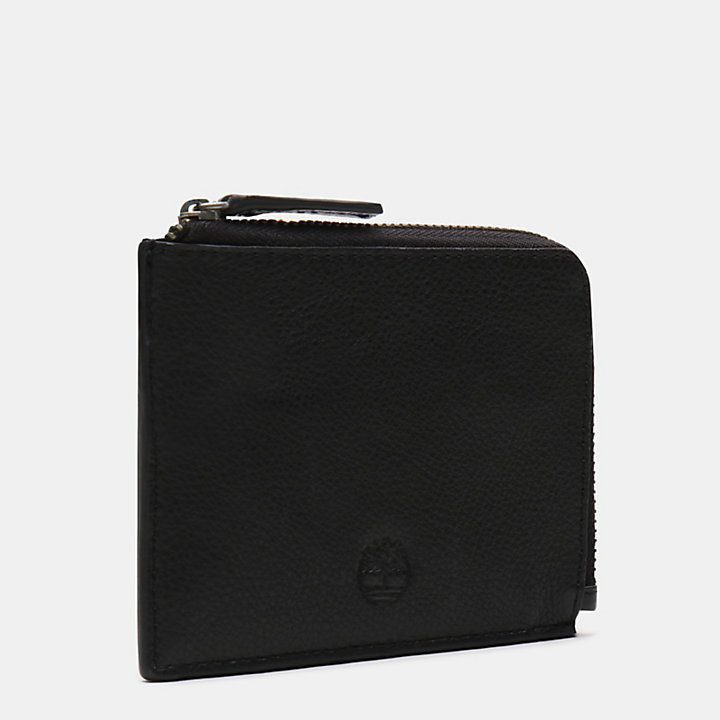 Kennebunk Zipped Wallet for Men in Black-