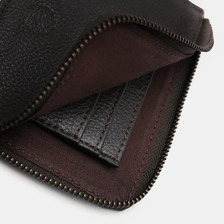 Kennebunk Zipped Wallet for Men in Brown-