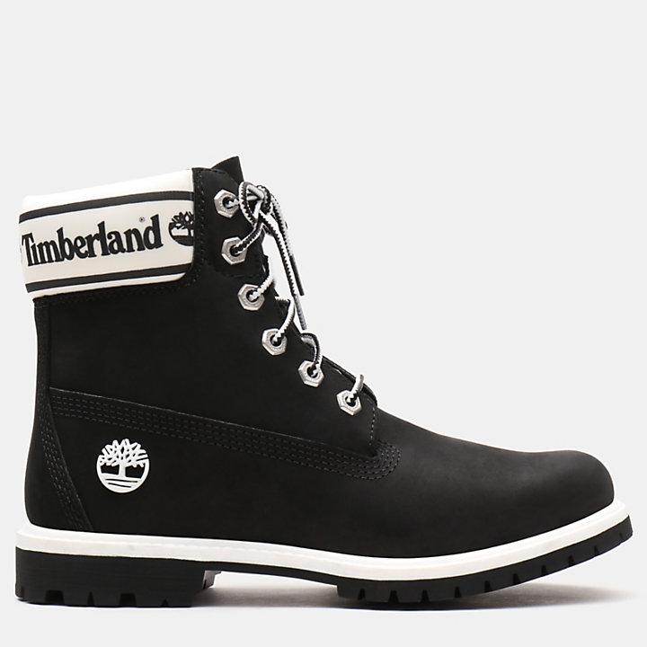 6 Logo Pour Inch Collar Boot Noir En Femme xWrdoCBe