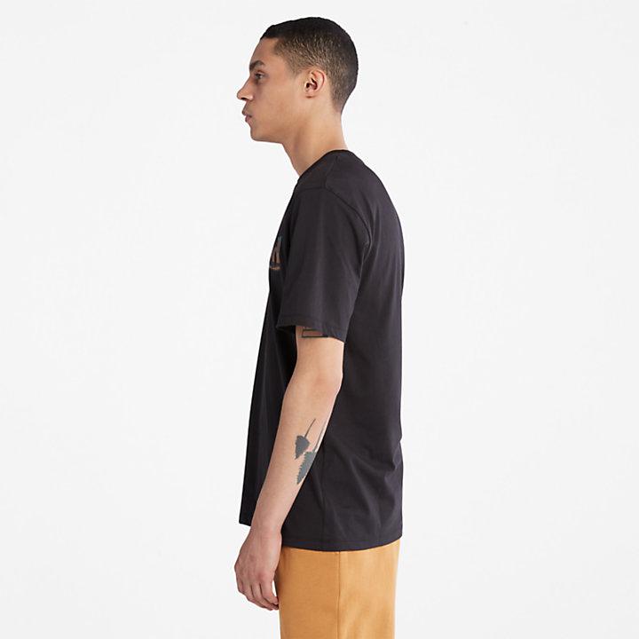 Outdoor Heritage Camo-Logo T-Shirt for Men in Black-