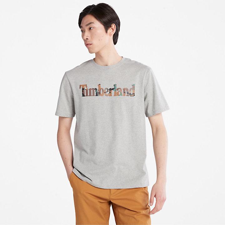 Outdoor Heritage Camo-Logo T-Shirt for Men in Grey-