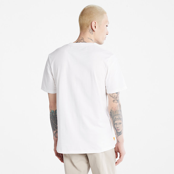 Outdoor Heritage Camo-Logo T-Shirt for Men in White-