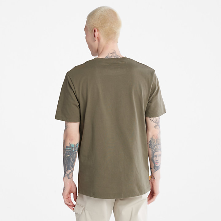 T-shirt da Uomo con Logo Mimetico Outdoor Heritage in verde scuro-