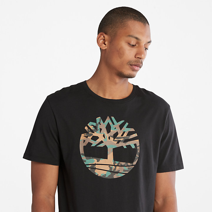 Outdoor Heritage Camo Tree T-Shirt for Men in Black-