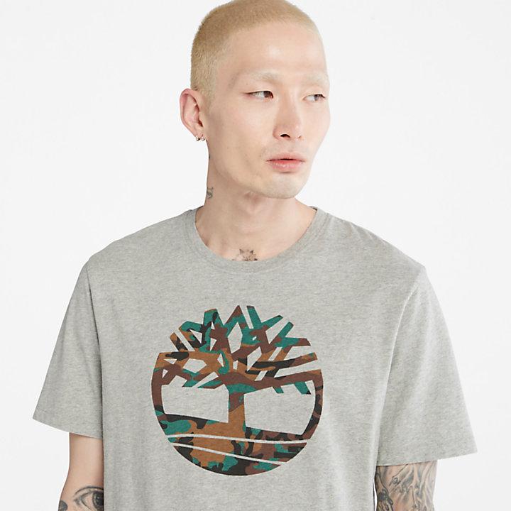 Outdoor Heritage Camo Tree T-Shirt for Men in Grey-