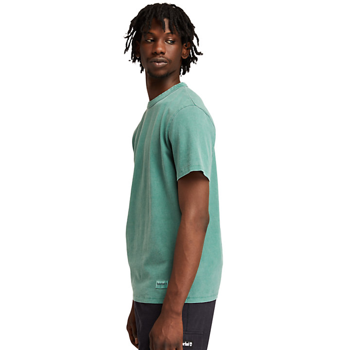 Stückgefärbtes The Original T-Shirt für Herren in Grün-