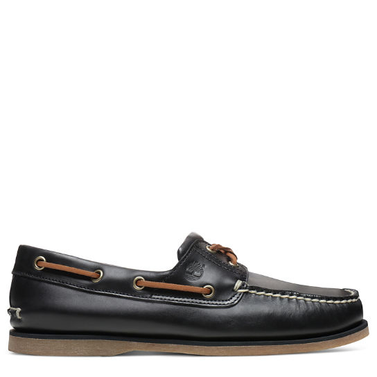 Classic 2-Eye Boat Shoe for Men in Black | Timberland