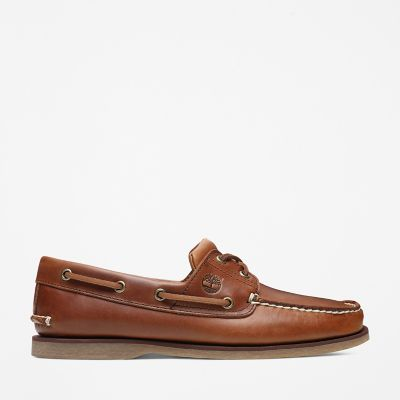 Classic+Full+Grain+Boat+Shoe+for+Men+in+Light+Brown
