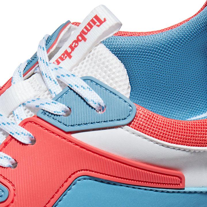 Delphiville Mesh Sneaker voor dames in rood-