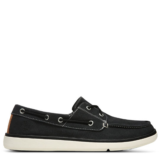 Gateway Pier Boat Shoe for Men in Black | Timberland