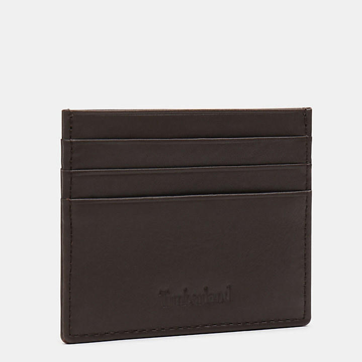 Brackenbury Credit Card Holder for Men in Dark Brown-