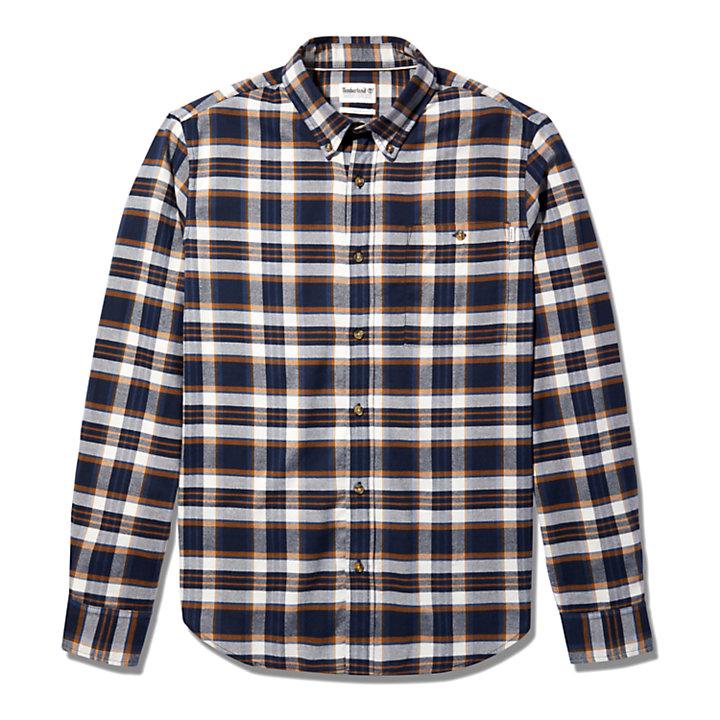 SolucellAir™ Tartan Overhemd voor heren in marineblauw-