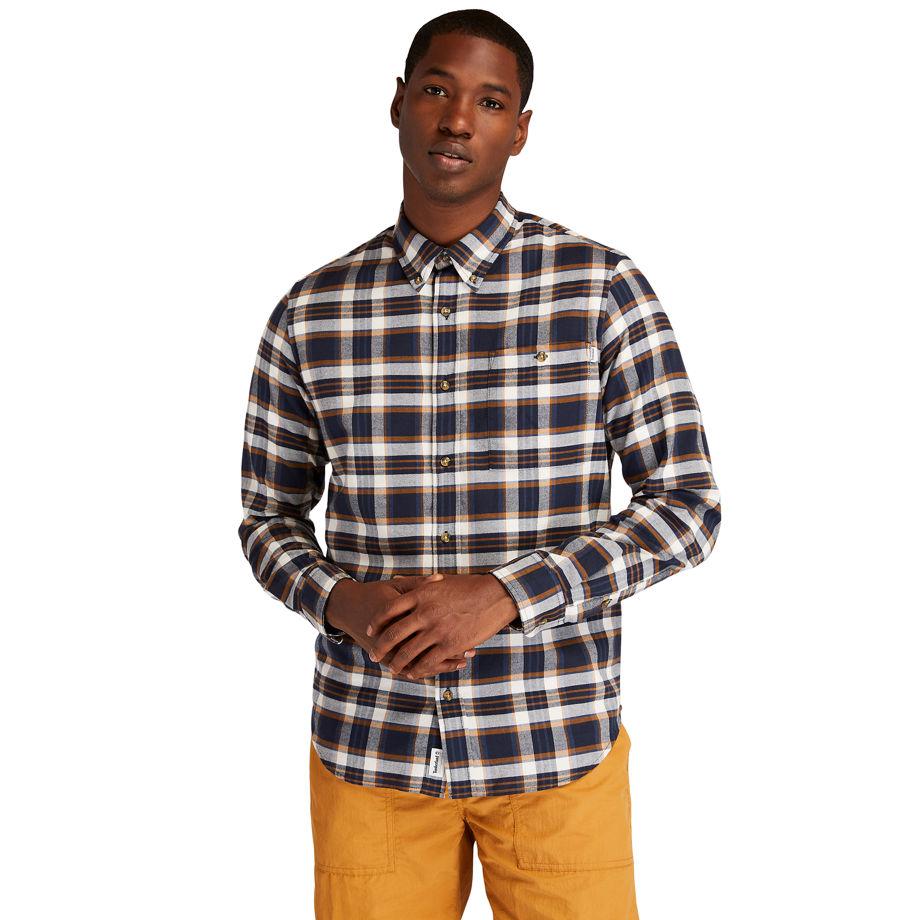 Timberland Solucellairandtrade; Tartan Shirt For Men In Navy Navy, Size XL