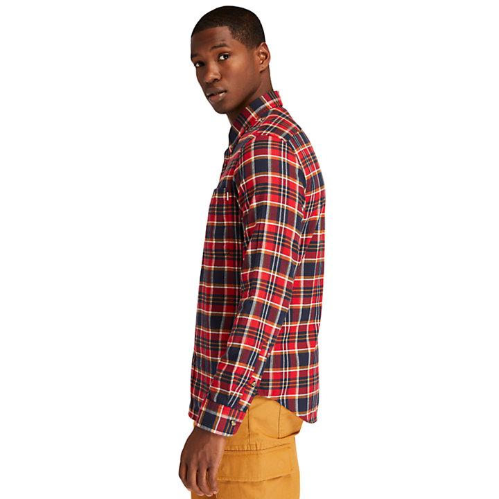 Camicia da Uomo Tartan SolucellAir™ in rosso-