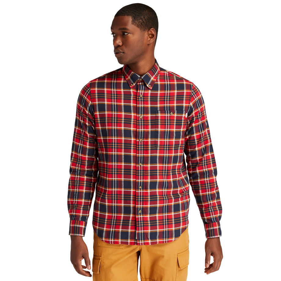 Timberland Solucellairandtrade; Tartan Shirt For Men In Red Red, Size M