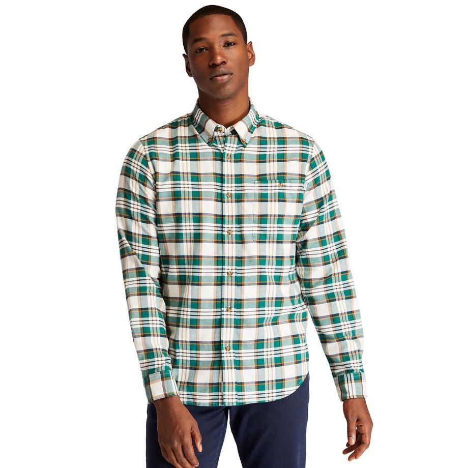 Timberland Solucellairandtrade; Tartan Shirt For Men In Green Green, Size 3XL