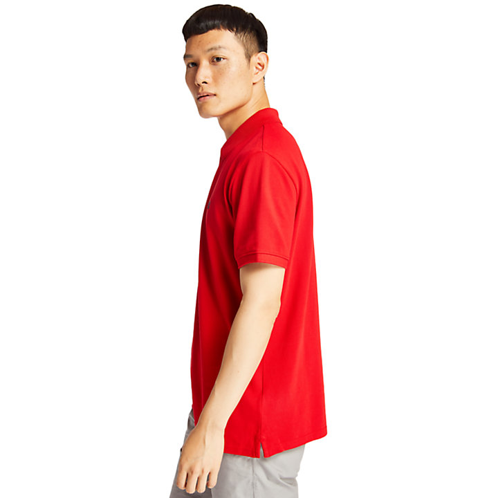 Millers River Piqué Polo Shirt for Men in Red-