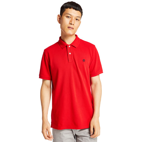 Millers River Piqué Polo Shirt for Men in Red | Timberland