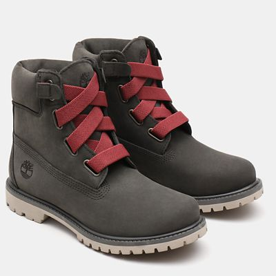 Premium+6+Inch+Convenience+Boot+for+Women+in+Dark+Grey