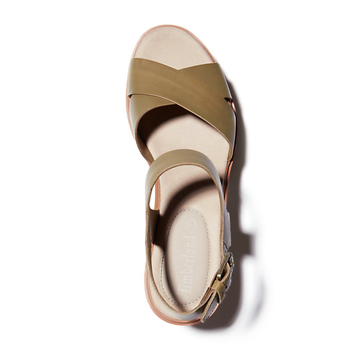 Sandália com Cunha Koralyn para Mulher em cru-