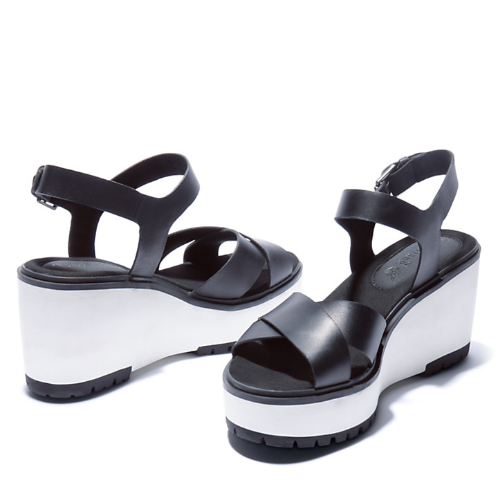 Sandália com Cunha Koralyn para Mulher em preto-