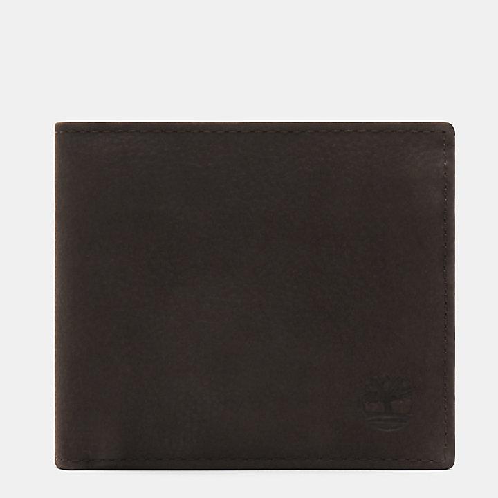 Brieftasche mit Münzfach für Herren in Dunkelbraun-
