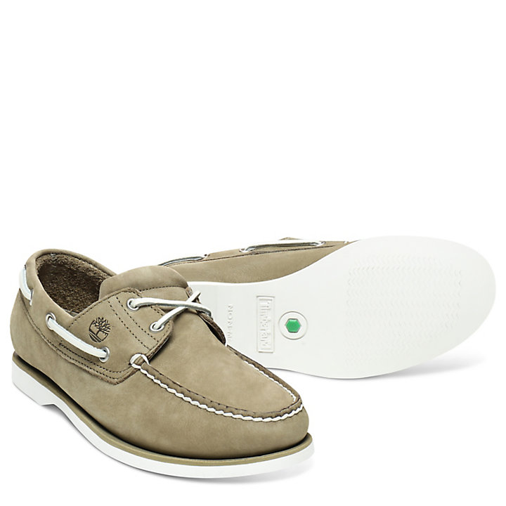Classic 2-Eye Boat Shoe for Men in Green-