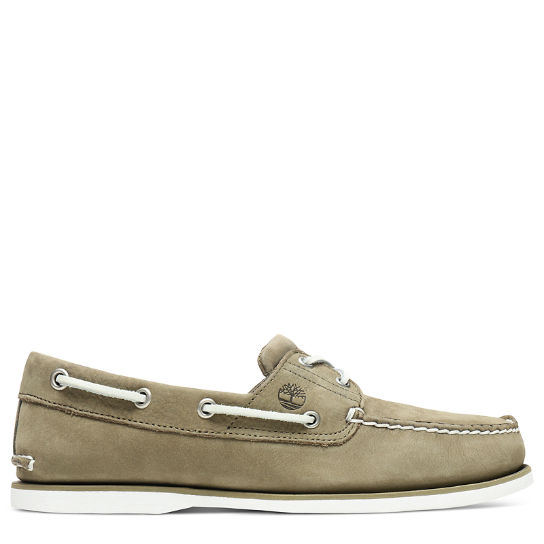 Classic 2-Eye Boat Shoe for Men in Green | Timberland