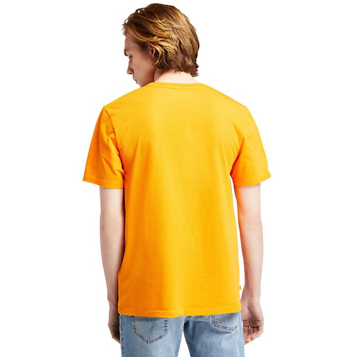 T-shirt met Nature Needs Heroes™-afbeelding voor heren in oranje-