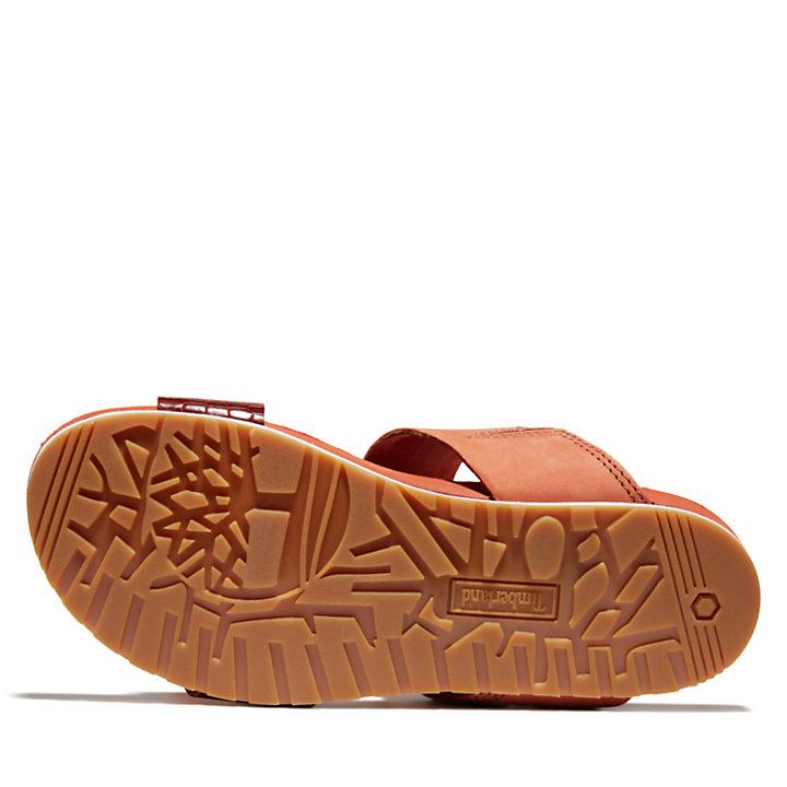Malibu Waves Slide Sandal for Women in Red-