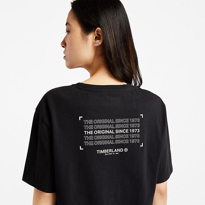 Organic Cotton Utility T-shirt for Women in Black-