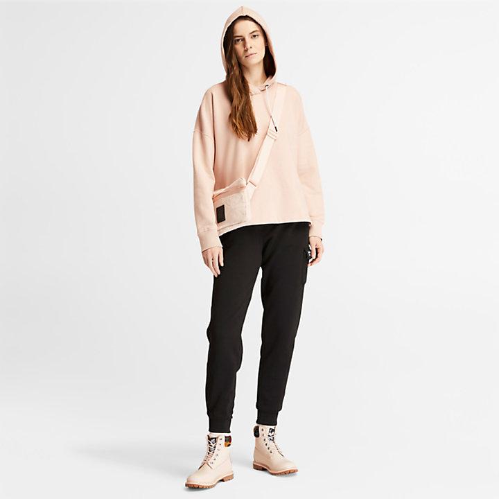 Fleece Cargo Sweatpants for Women in Black-