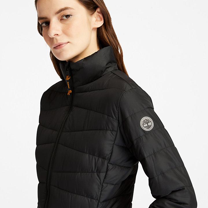 Compact, lichtgewicht jack voor dames in zwart-