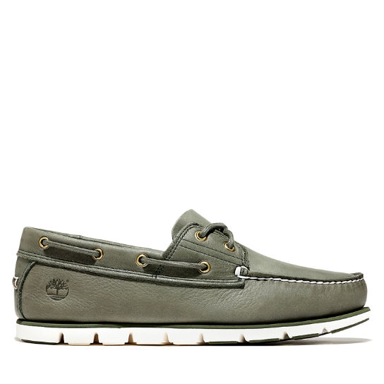 Tidelands Boat Shoes for Men in Dark Green | Timberland