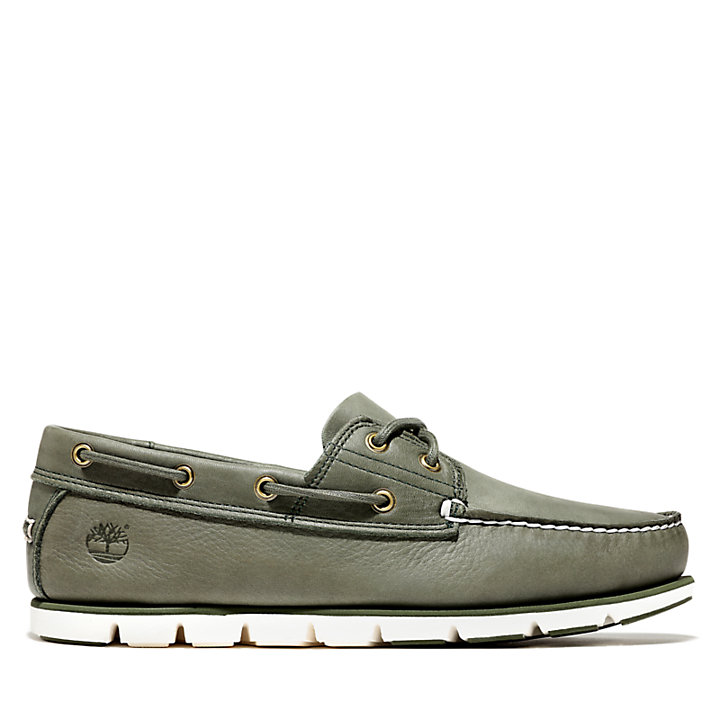 Tidelands Boat Shoes for Men in Dark Green-