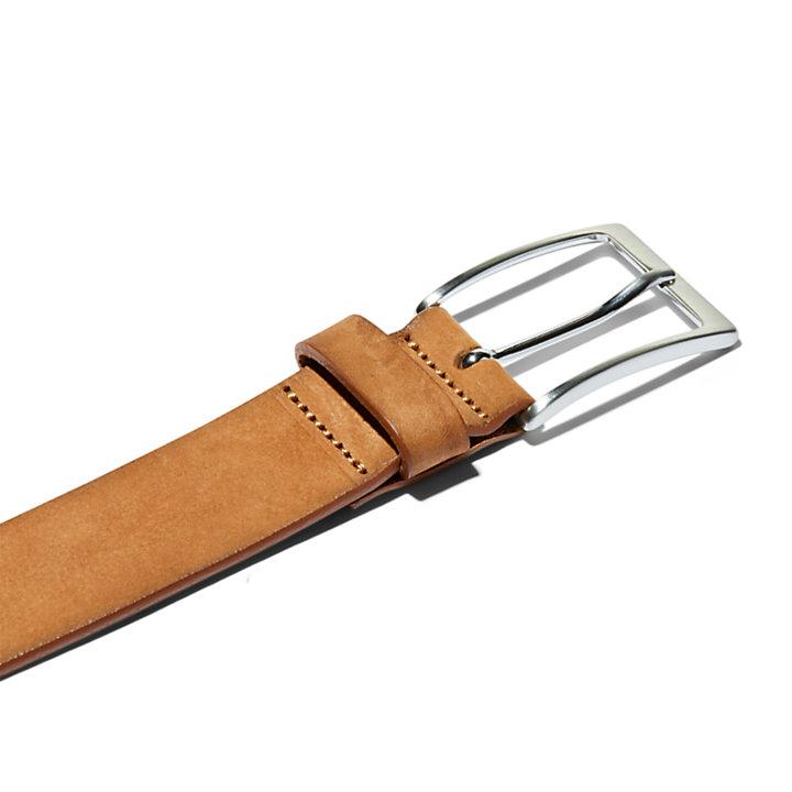 Cintura da Uomo in Pelle Effetto Slavato in marrone chiaro-