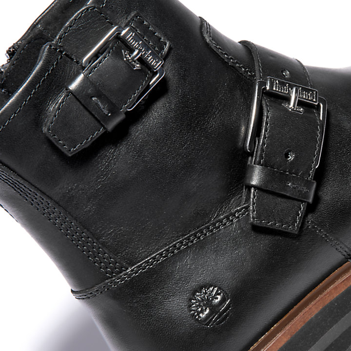 London Square Biker Boot for Women in Black-