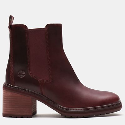 Sienna+High+Chelseas+f%C3%BCr+Damen+in+Dunkelrot