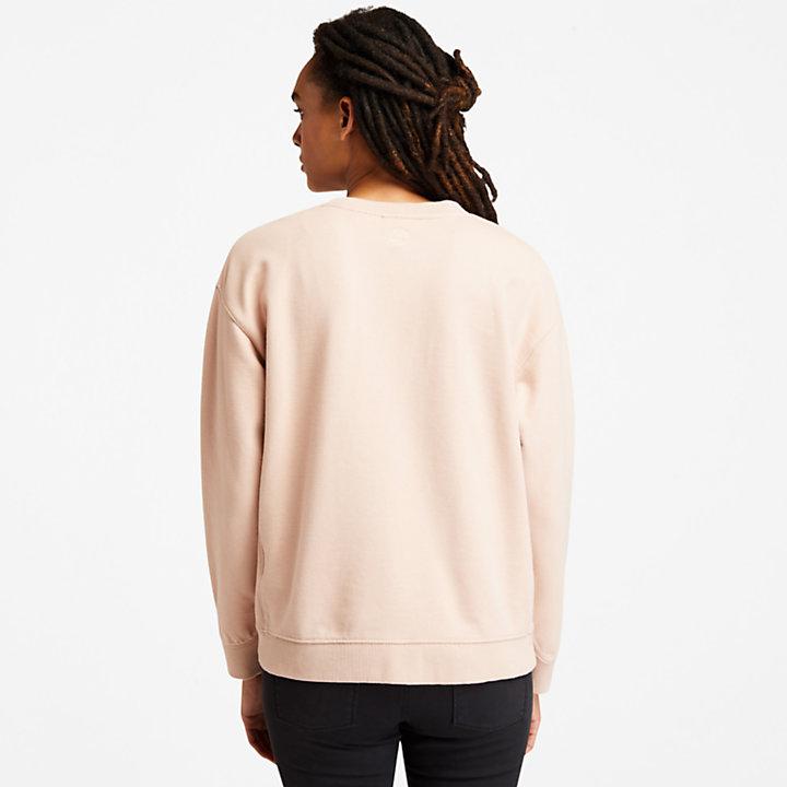 Ecoriginal Cordsweatshirt mit Logo für Damen in Hellpink-